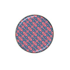 Squares And Circles Motif Geometric Pattern Hat Clip Ball Marker (4 Pack)