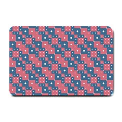 Squares And Circles Motif Geometric Pattern Small Doormat