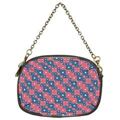 Squares And Circles Motif Geometric Pattern Chain Purses (one Side)
