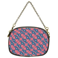 Squares And Circles Motif Geometric Pattern Chain Purses (two Sides)