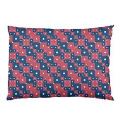 Squares And Circles Motif Geometric Pattern Pillow Case