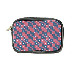 Squares And Circles Motif Geometric Pattern Coin Purse