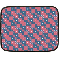 Squares And Circles Motif Geometric Pattern Double Sided Fleece Blanket (mini)