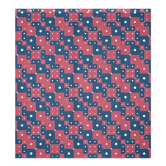 Squares And Circles Motif Geometric Pattern Shower Curtain 66  X 72  (large)