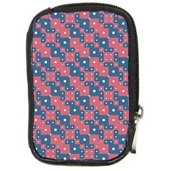 Squares And Circles Motif Geometric Pattern Compact Camera Cases