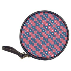 Squares And Circles Motif Geometric Pattern Classic 20 Cd Wallets