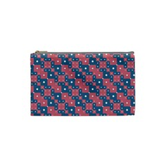 Squares And Circles Motif Geometric Pattern Cosmetic Bag (small)