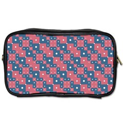 Squares And Circles Motif Geometric Pattern Toiletries Bags 2 Side