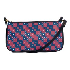 Squares And Circles Motif Geometric Pattern Shoulder Clutch Bags