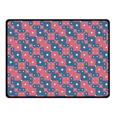 Squares And Circles Motif Geometric Pattern Fleece Blanket (small)
