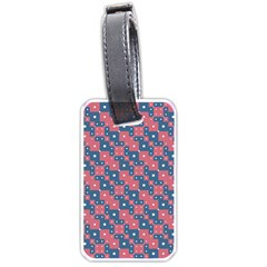 Squares And Circles Motif Geometric Pattern Luggage Tags (one Side)