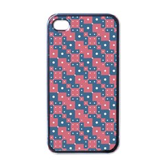 Squares And Circles Motif Geometric Pattern Apple Iphone 4 Case (black)