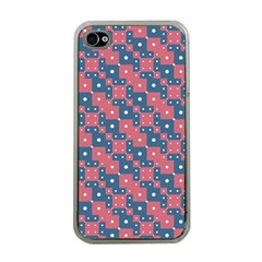 Squares And Circles Motif Geometric Pattern Apple Iphone 4 Case (clear)