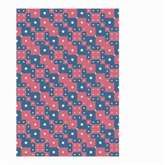 Squares And Circles Motif Geometric Pattern Small Garden Flag (two Sides)