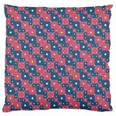 Squares And Circles Motif Geometric Pattern Large Cushion Case (one Side)
