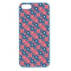 Squares And Circles Motif Geometric Pattern Apple Seamless Iphone 5 Case (color)