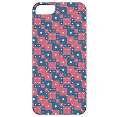 Squares And Circles Motif Geometric Pattern Apple Iphone 5 Classic Hardshell Case