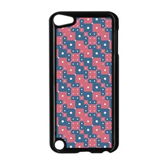 Squares And Circles Motif Geometric Pattern Apple Ipod Touch 5 Case (black)