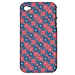 Squares And Circles Motif Geometric Pattern Apple Iphone 4/4s Hardshell Case (pc+silicone)