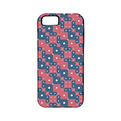 Squares And Circles Motif Geometric Pattern Apple Iphone 5 Classic Hardshell Case (pc+silicone)