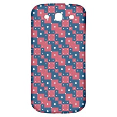 Squares And Circles Motif Geometric Pattern Samsung Galaxy S3 S Iii Classic Hardshell Back Case