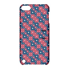 Squares And Circles Motif Geometric Pattern Apple Ipod Touch 5 Hardshell Case With Stand