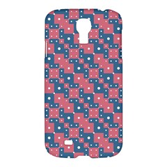 Squares And Circles Motif Geometric Pattern Samsung Galaxy S4 I9500/i9505 Hardshell Case