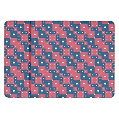 Squares And Circles Motif Geometric Pattern Samsung Galaxy Tab 8 9  P7300 Flip Case