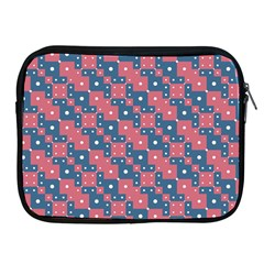 Squares And Circles Motif Geometric Pattern Apple Ipad 2/3/4 Zipper Cases