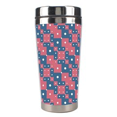 Squares And Circles Motif Geometric Pattern Stainless Steel Travel Tumblers