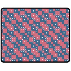 Squares And Circles Motif Geometric Pattern Double Sided Fleece Blanket (medium)