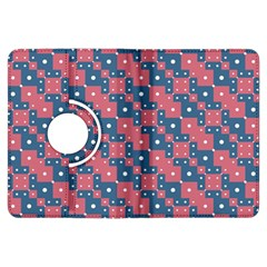 Squares And Circles Motif Geometric Pattern Kindle Fire Hdx Flip 360 Case
