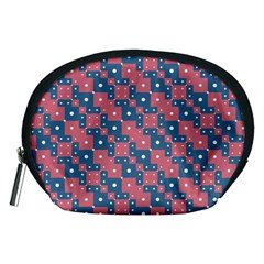 Squares And Circles Motif Geometric Pattern Accessory Pouches (medium)