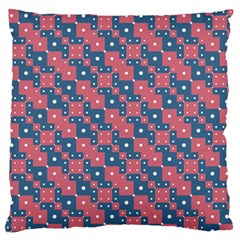 Squares And Circles Motif Geometric Pattern Large Flano Cushion Case (one Side)