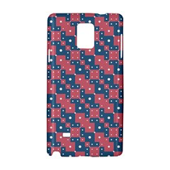 Squares And Circles Motif Geometric Pattern Samsung Galaxy Note 4 Hardshell Case