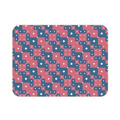 Squares And Circles Motif Geometric Pattern Double Sided Flano Blanket (mini)
