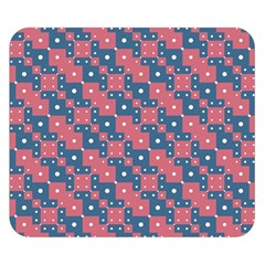 Squares And Circles Motif Geometric Pattern Double Sided Flano Blanket (small)
