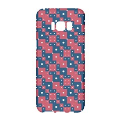 Squares And Circles Motif Geometric Pattern Samsung Galaxy S8 Hardshell Case