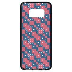 Squares And Circles Motif Geometric Pattern Samsung Galaxy S8 Black Seamless Case