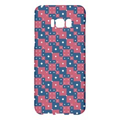 Squares And Circles Motif Geometric Pattern Samsung Galaxy S8 Plus Hardshell Case