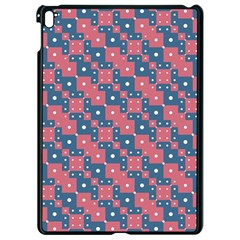 Squares And Circles Motif Geometric Pattern Apple Ipad Pro 9 7   Black Seamless Case