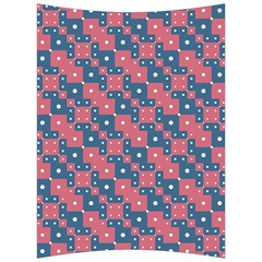 Squares And Circles Motif Geometric Pattern Back Support Cushion
