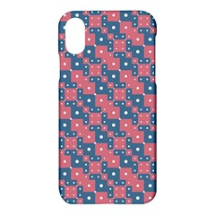 Squares And Circles Motif Geometric Pattern Apple Iphone X Hardshell Case
