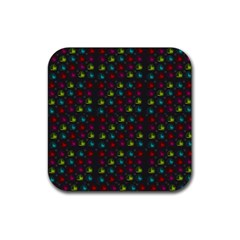 Roses Raining For Love  In Pop Art Rubber Coaster (square)
