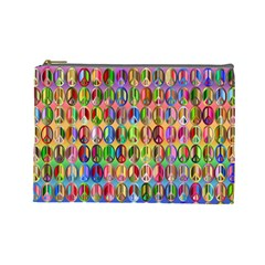 Peace Sign Cosmetic Bag (large)