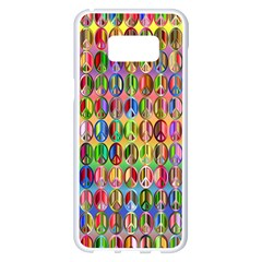 Peace Sign Samsung Galaxy S8 Plus White Seamless Case