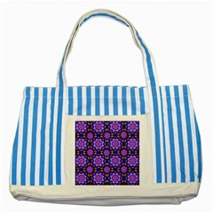Colorful 3 Striped Blue Tote Bag