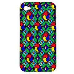 Colorful 4 Apple Iphone 4/4s Hardshell Case (pc+silicone)