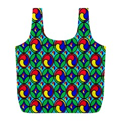 Colorful 4 Full Print Recycle Bags (l)