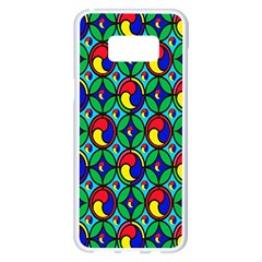 Colorful 4 Samsung Galaxy S8 Plus White Seamless Case
